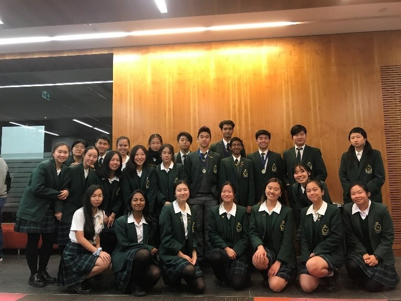 James Ruse students at RACI  Titration Competition